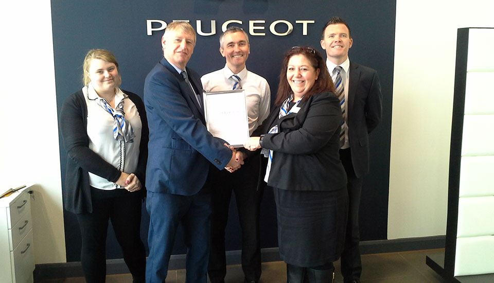 Peugeot Centre Passes Foundation Phase Of Ace Accreditation
