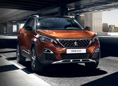 Peugeot 3008 - from £385 per month and Arbury pay £3,250 towards your deposit