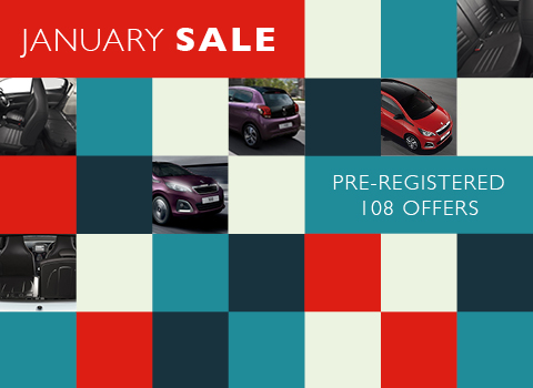 Pre-registered Peugeot 108 Offers