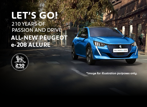 All-new Peugeot e-208 Allure